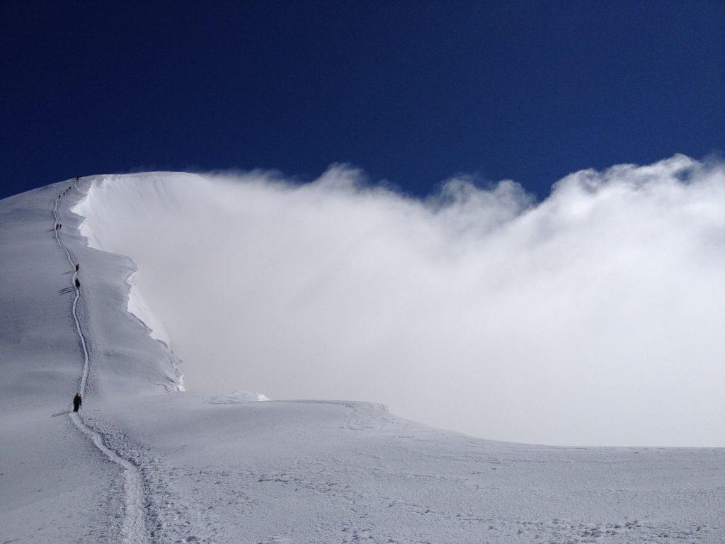 Hochtour, Weissmies, Wallis, Schweiz, Gipfelgrat