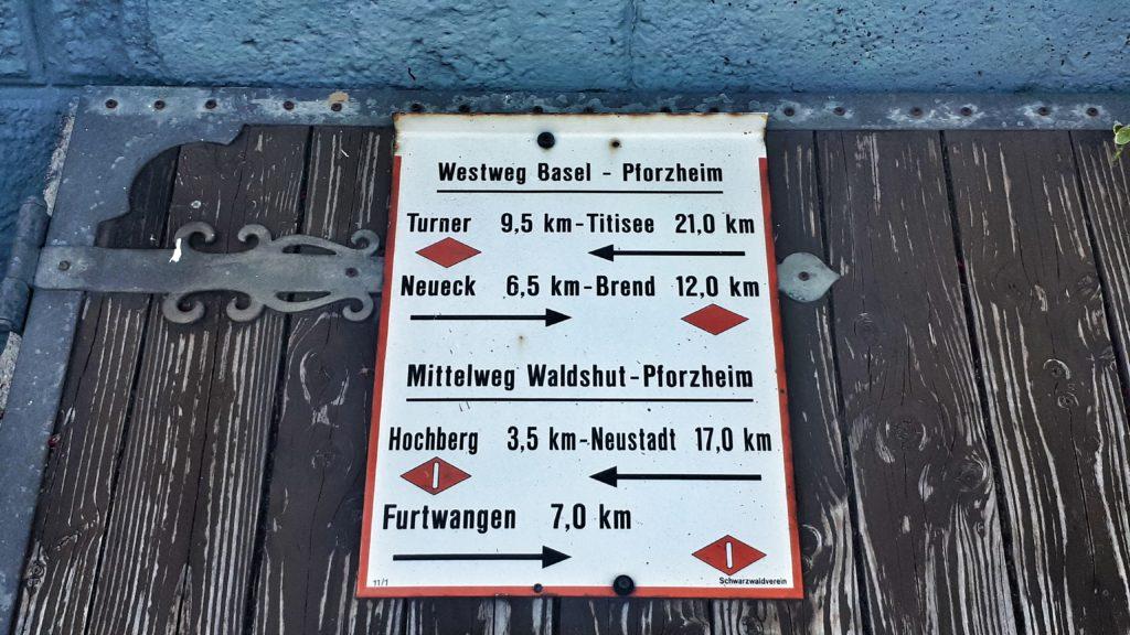 Wanderung auf dem Westweg von Hausach nach Hinterzarten