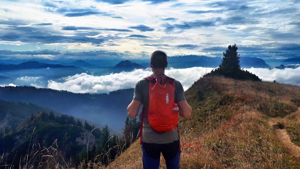 Wanderung auf den Gipfel des Hochgern im Chiemgau